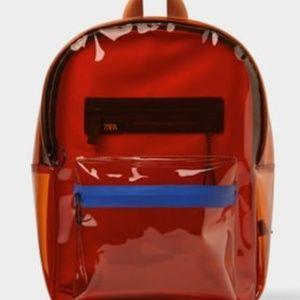 Zara Mens Clear PVC backpack